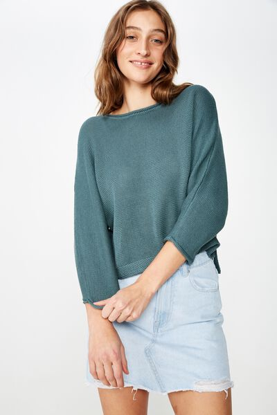 Summer Step Hem Pullover, NORTH ATLANTIC