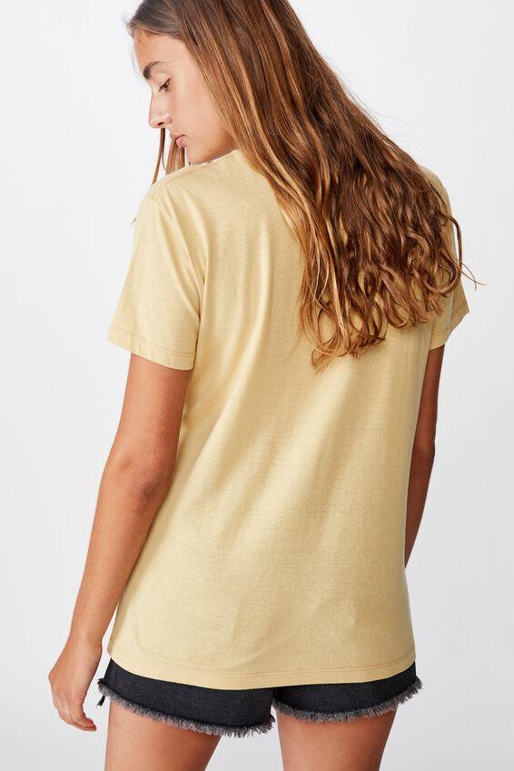 Classic Slogan T Shirt, SHE DID/NEW WHEAT