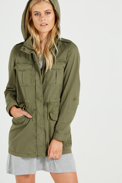 Utility Light Weight Anorak, WASHED DEEP SOOT