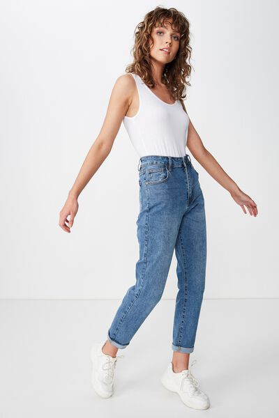 High Rise 90S Stretch Jean, VINTAGE BLUE