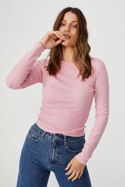The Turn Back Long Sleeve Top, PRISM PINK