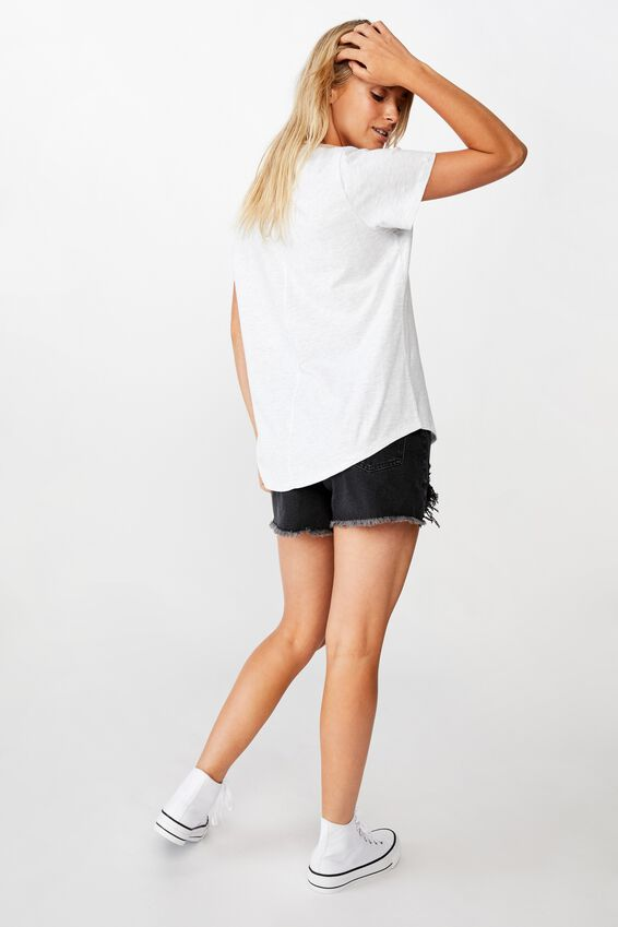 The One Crew Tee, SILVER MARLE