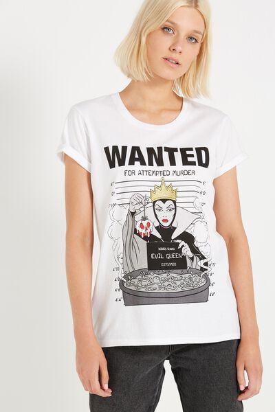 Tbar Fox Graphic T Shirt, LCN DISNEY EVIL QUEEN/WHITE