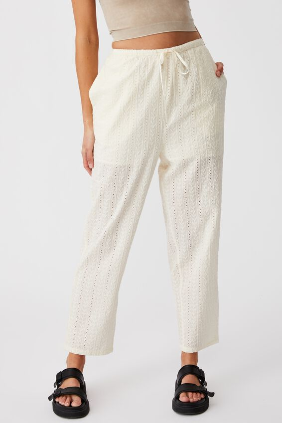 Cali Pull On Pant, SEASHELL BRODERIE