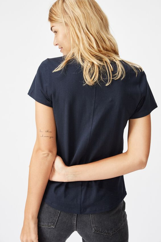 The One Fitted V Tee, MOONLIGHT