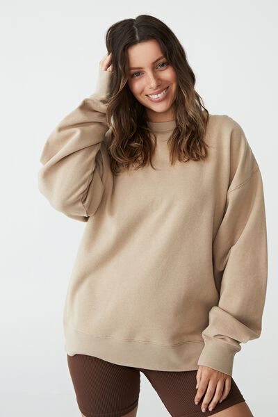 Classic Sweatshirt, LINEN TAUPE