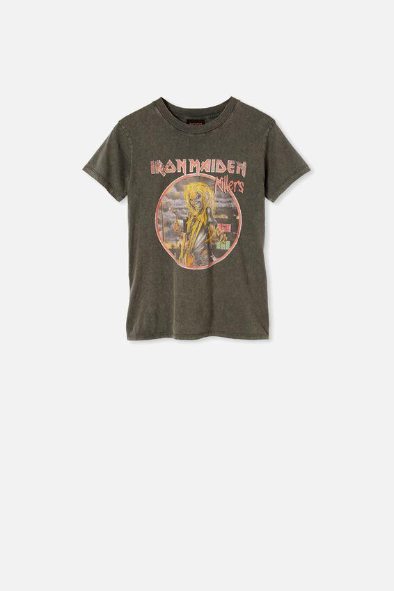 Classic Iron Maiden T Shirt, LCN IM IRON MAIDEN KILLERS/SLATE GREY