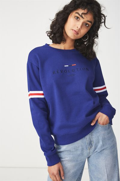 Ferguson Graphic Crew Sweatshirt, REVOLUTION/SAPPHIRE