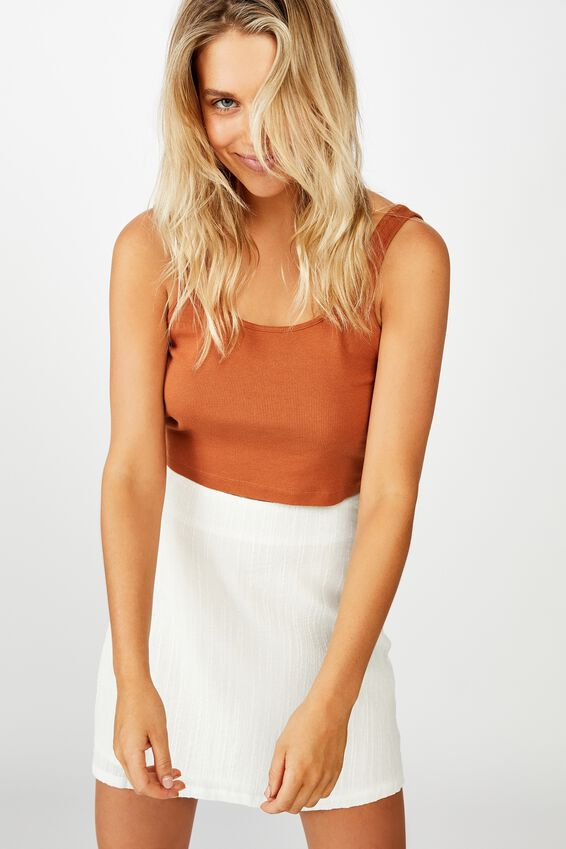 Wren Mini Skirt, WHITE