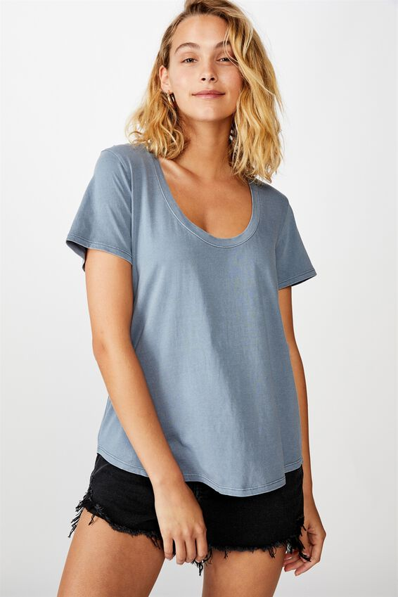 The One Scoop Tee, WASHED TRADEWINDS