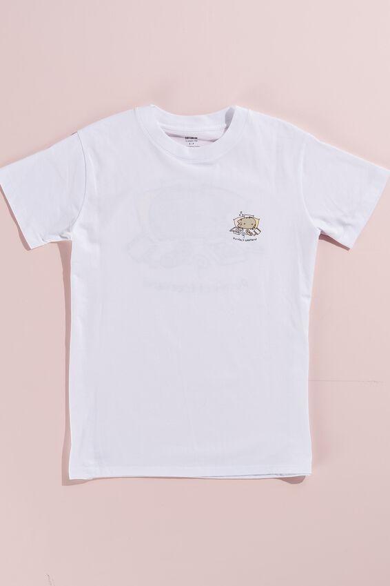 Classic Pop Culture T Shirt, LCN PUSH PUSHEEN WEEKEND/WHITE