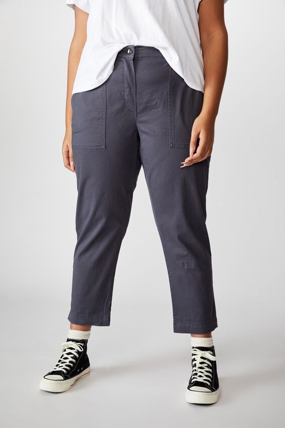 Curve High Rise Chino, MIDNIGHT BLUE