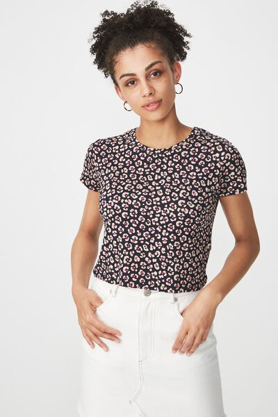 The Baby Tee, ISABEL FLORAL LEOPARD