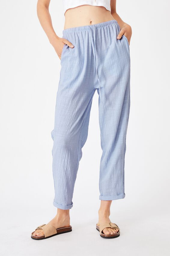 Cali Pull On Pant, SILVER BLUE