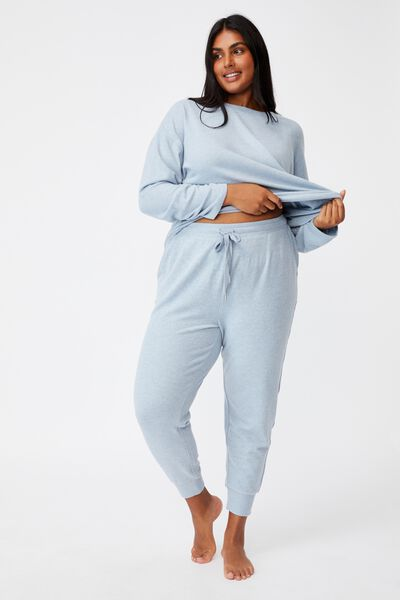 Curve Super Soft Slim Fit Pant, BLUE FOG MARLE