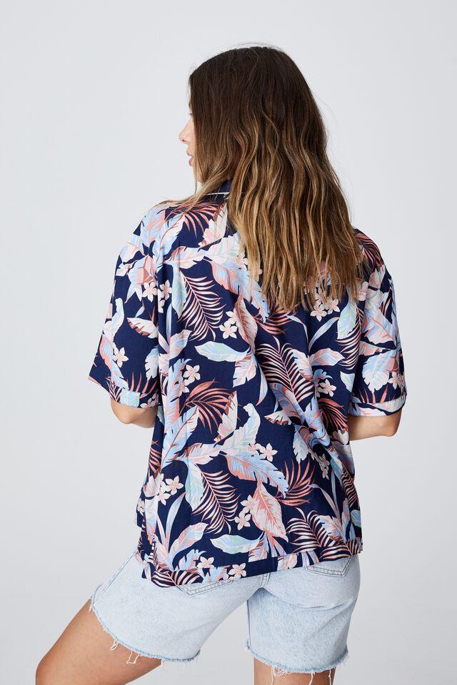 Tropical Short Sleeve Shirt, ALOHA MEDIEVAL BLUE