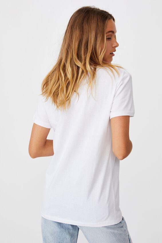 Classic Arts T Shirt, DANCING SKELETON/WHITE