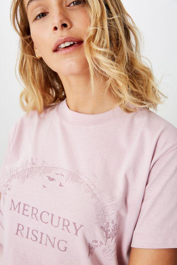 Classic Arts T Shirt, MERCURY RISING/FRAGRANT LILAC