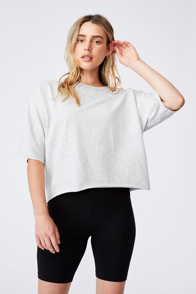 Classic  Fleece Tee, LIGHT GREY MARLE