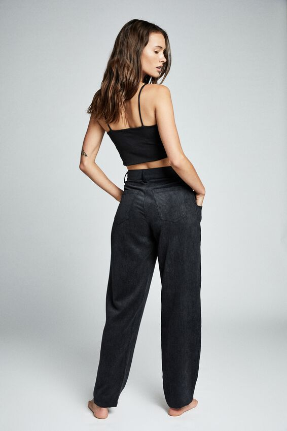 Relaxed Cord Pant, BLACK