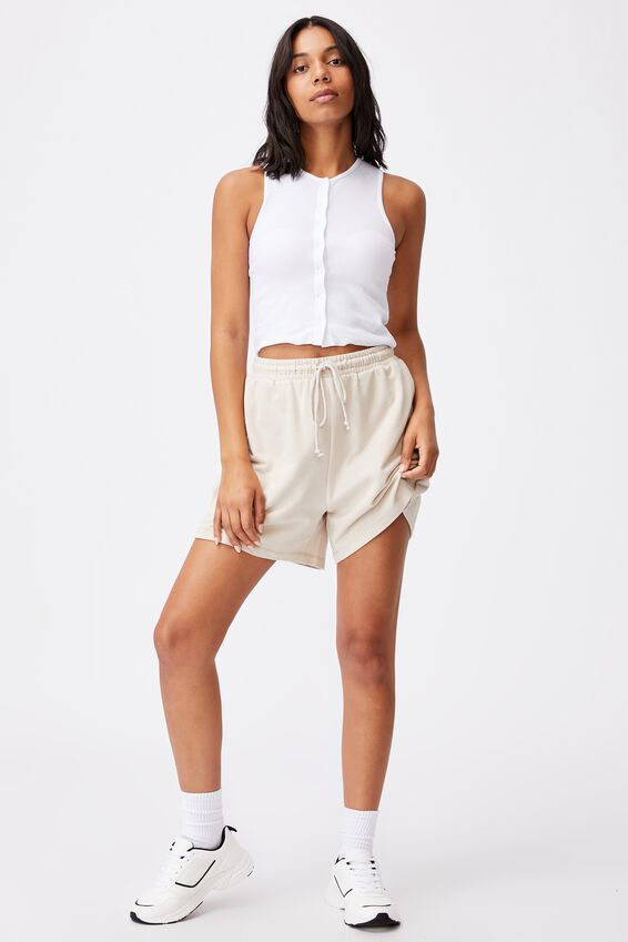 Bobbi Button Through Tank, WHITE