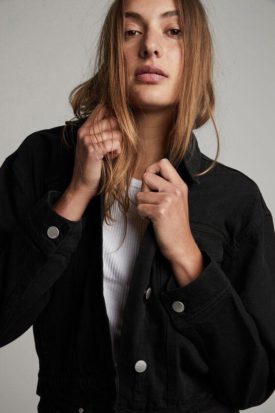 Classic Denim Jacket, BLACK