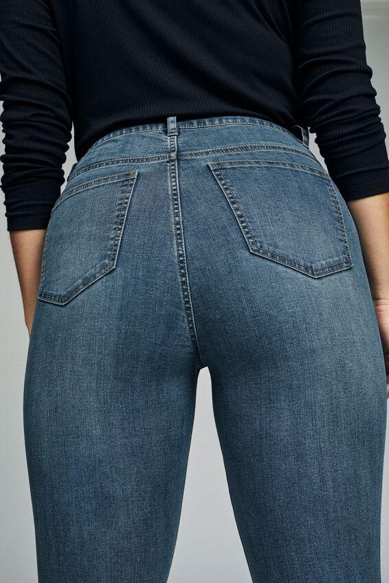 Curve Adriana High Skinny Jean, BLUE