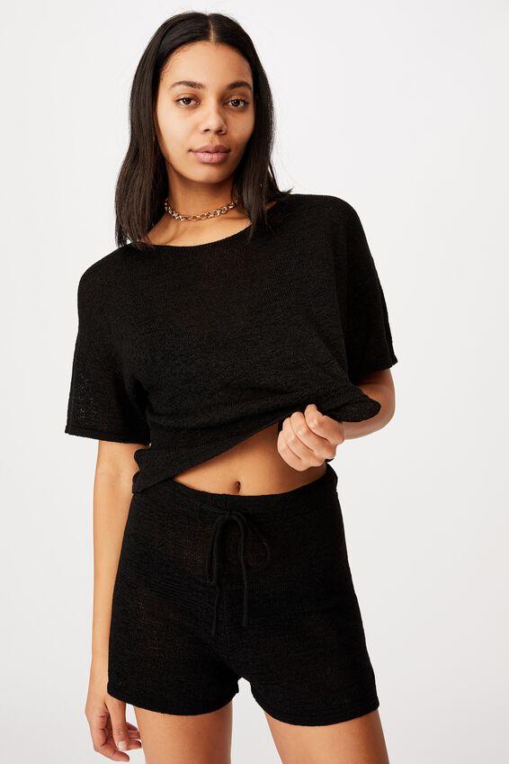 Match Me Knit Short, BLACK