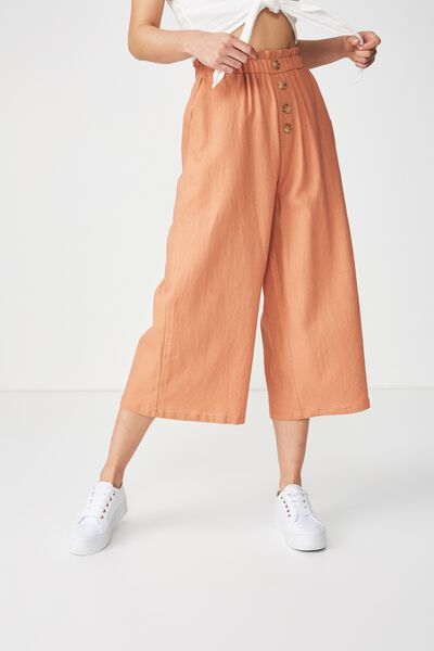 High Waist Culotte, SAHARA BUTTON