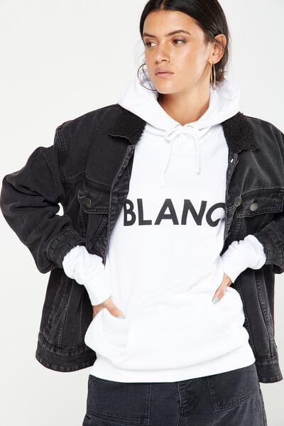 Delevingne Graphic Hoodie, BLANC/WHITE