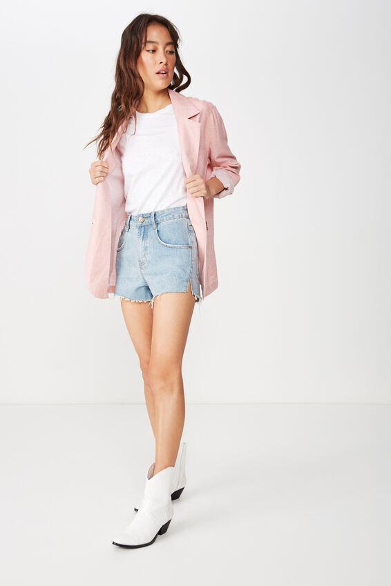 Summer Os Blazer, ROSE TAN
