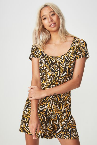 Carrie Button Through Playsuit, JULIA ANIMAL