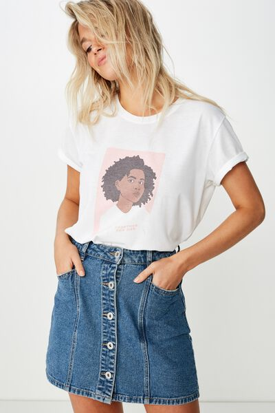 Classic Event T Shirt, TOGETHER FOR HER SKETCH/WHITE