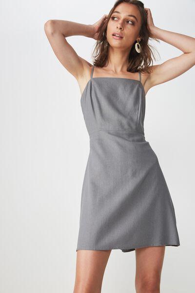 Woven Krissy Dress, DECEMBER SKY- L