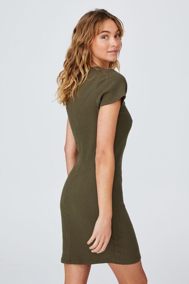 Essential Mini Dress, DUSTY OLIVE