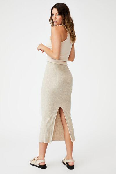 Ultimate Knit Midi Skirt, TAUPE MARLE