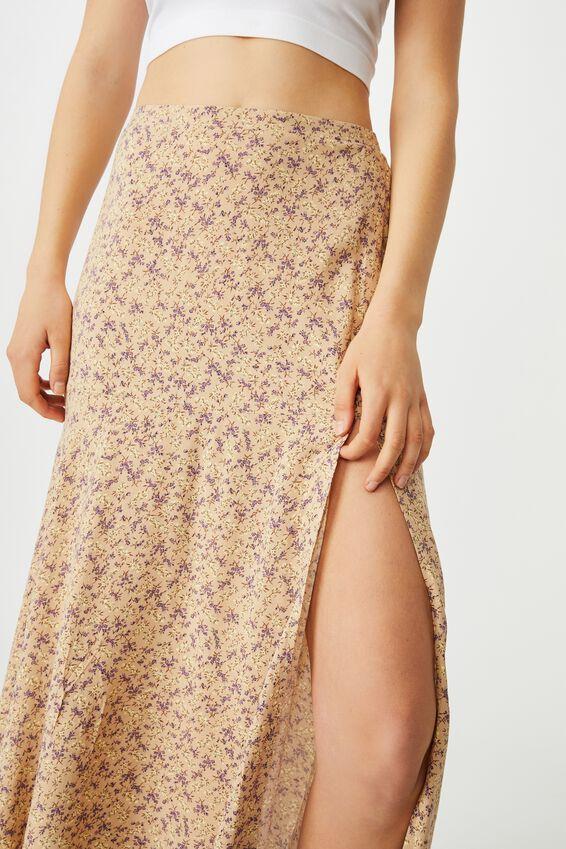 Alana Split Maxi Skirt, RAMONA SPRIG SAND DUNE