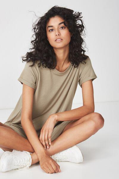 Tina Tshirt Dress 2, SILVER SAGE