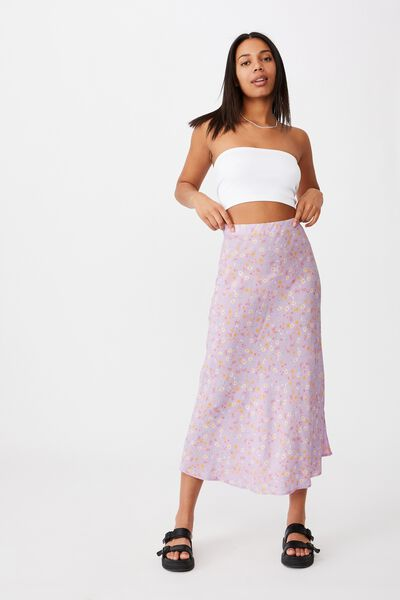 All Day Slip Skirt, JORDIE FLORAL FROSTY LILAC