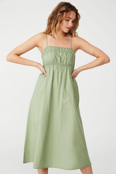Woven Petite Pippa Midi Dress, WASHED FERN
