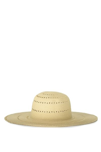 Beach Daze Floppy Hat, NATURAL