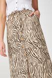 Woven Molly Button Through Midi Skirt, SARAH ZEBRA APRICOT ILLUSION