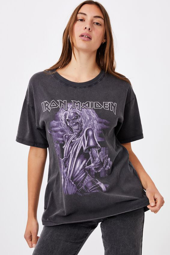 The Original Graphic License Tee, LCN IM IRON MAIDEN BLUE KILLERS/BLACK