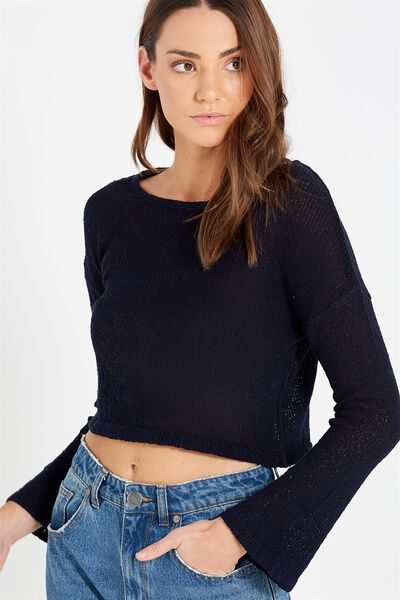 Mimi Chopped Pullover, DEEPEST NAVY