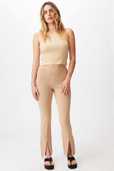 Millie Knit Pant, BROWN TAUPE