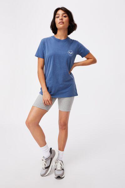 Classic Slogan T Shirt, LOCAL SPORTS CLUB/COASTAL BLUE