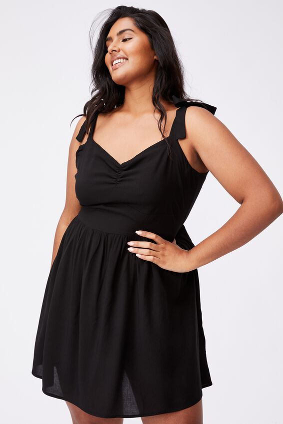 Curve Marni Mini Dress, BLACK