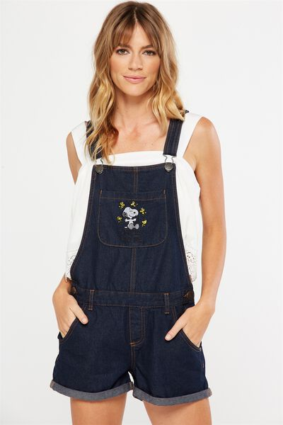The Classic Overall, SNOOPY RINSE BLUE CUFFED