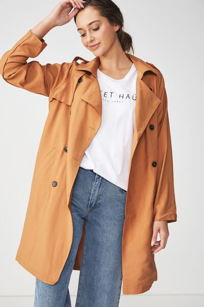 Hannah Soft Mid Trench, SPRUCE