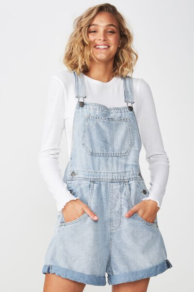 90S Overall, WORN MID BLUE